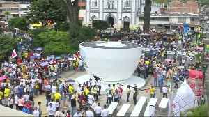 Colombian town brewing world record for biggest cup of coffee [Video]