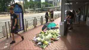 Hong Kong mourns death of protester who fell to his death [Video]