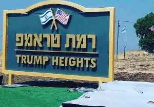 News video: Netanyahu Announces New Golan Settlement, 'Trump Heights'