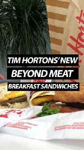 Tim Hortons' New Beyond Meat Breakfast Sandwiches [Video]