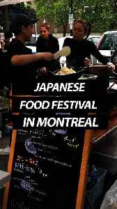 """""""Japanese Street Food"""" Festival In Montreal [Video]"""