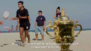 News video: Rugby World Cup Trophy Tour reaches Brazil