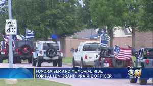 Texas Red Jeep Club Holds Memorial Ride To Honor Fallen Grand Prairie Officer AJ Castaneda [Video]