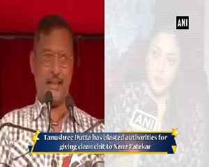 Nana Patekar bribed police Tanushree Dutta after veteran actor got clean chit [Video]