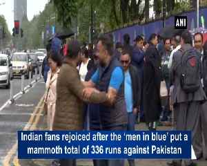 As India puts up 336 runs, fans sure of team remaining unbeatable against Pakistan [Video]