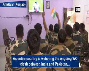 BSF personnel in Amritsar cheer for India against WC clash with Pakistan [Video]