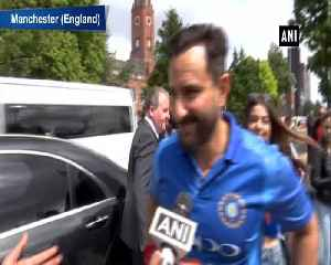 News video: Saif Ali Khan arrives at Old Trafford to witness 'biggest game of cricket