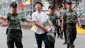 Hong Kong: Activist Joshua Wong freed from jail to join mass protest [Video]