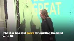 Geri Horner apologises for quitting the Spice Girls [Video]