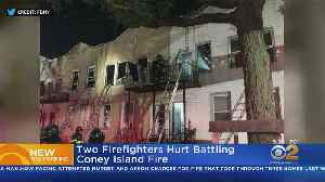 2 Firefighters Hurt In Coney Island Fire [Video]