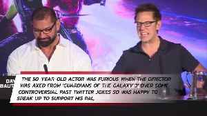 Dave Bautista 'didn't care' if defending James Gunn caused problems [Video]