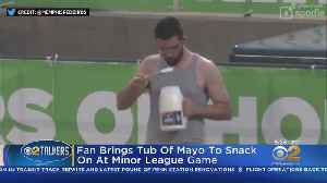 Baseball Fan Goes To Town On Jug Of Mayo [Video]