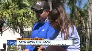 7-year-old girl tries to save the planet one water bottle at a time [Video]