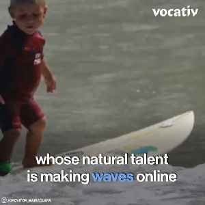 Two and Five-Year-Old Siblings Make Jaws Drop With Their Surfing Skills [Video]