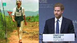 Prince Harry Continues Diana's Work Against Landmines [Video]