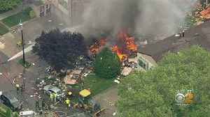 Firefighters Battle Blaze At Scene Of House Explosion In Ridgefield, NJ [Video]