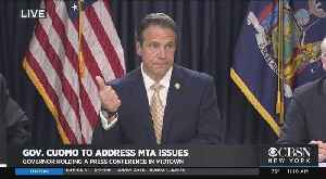 Web Extra: Gov. Cuomo's MTA Announcement [Video]