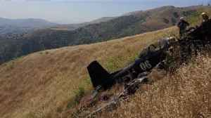 Pilot Found Dead After Vintage War Plane Crashes in California [Video]