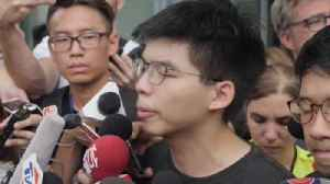 Umbrella Movement leader released from prison to join Hong Kong protests [Video]