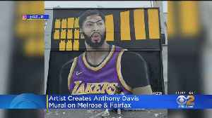 Local Artist Pulls All-Nighter To Paint Anthony Davis Mural [Video]