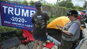 Trump supporters line up 42 hours early for Orlando campaign rally [Video]