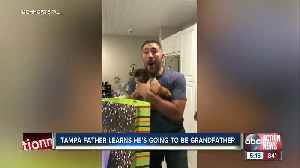 Tampa dad surprised on Father's Day with news he will be grandfather [Video]
