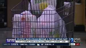 Plastic bag ban introduced in Baltimore City Council [Video]