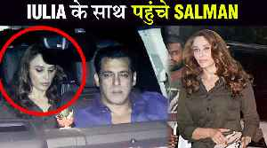Salman Khan lulia Vatur Arrive TOGETHER, Arbaaz With Girlfriend | Sohail's Son Birthday Bash [Video]