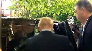 Boris Johnson leaves home ahead of second round of votes [Video]