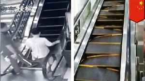 Shoppers run for their lives as Chinese escalator crumbles [Video]