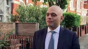 Javid:'I'm quietly confident things will be very good today' [Video]