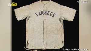News video: Babe Ruth Jersey Knocks It Out of the Park, Sells for Record-Setting $5.64M at Auction