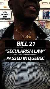 """News video: Bill 21""""Secularism Law"""" Passed in Quebec"""