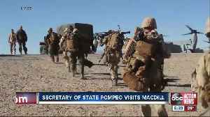 Secretary of State, Mike Pompeo visits MacDill Air Force Base [Video]