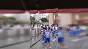 Chinese pupils scan faces at facial recognition gate to enter school [Video]