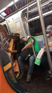 Man Naps Through Musical Morning Commute [Video]