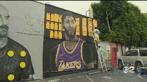 Mural Of Anthony Davis In Laker Purple And Gold Pops Up In Fairfax District [Video]