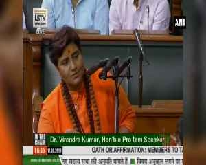 Ruckus erupts as Pragya Thakur takes oath in Parliament [Video]