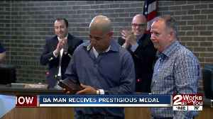 BA man received prestigious medal for heroic actions [Video]