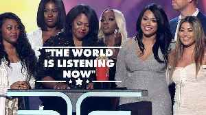 News video: R. Kelly accusers accept MTV award together