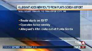 Allegiant adding to flight to Michigan from Punta Gorda [Video]