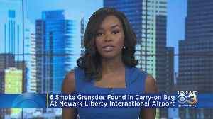 6 Smoke Grenades Found In Carry-On Bag At Newark Liberty International Airport [Video]