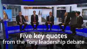 Tory leadership race: Five key quotes from the BBC debate [Video]