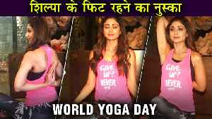 Shilpa Shetty's UNBELIEVABLE Yoga, Gives Fitness Tips | World Yoga Day [Video]