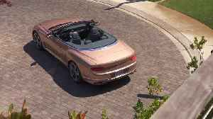Bentley Continental GTC V8 Convertible Design in Rose Gold [Video]