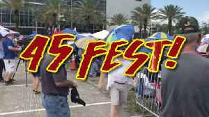 45 Fest: The Trump Rally Outside The Trump Rally [Video]