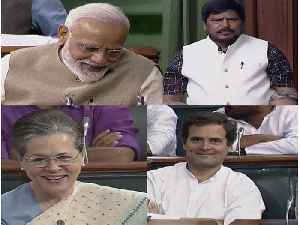 Ramdas Athawale's Speech gets PM Modi, Rahul Sonia Gandhi to smile in Parliament | Oneindia News [Video]
