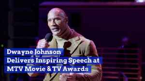 Dwayne Johnson Gives Speech For Icon Generation Award [Video]