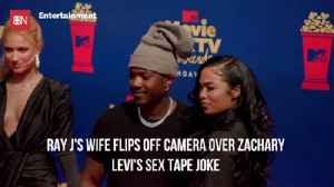 Ray J's Wife Didn't Like This Sex Tape Joke [Video]