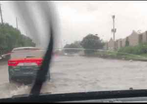 Roads Flooded in Kansas Amid Severe Storm Warnings [Video]